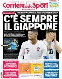 capa Corriere dello Sport de 1 julho 2018