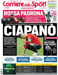 capa Corriere dello Sport de 2 julho 2018
