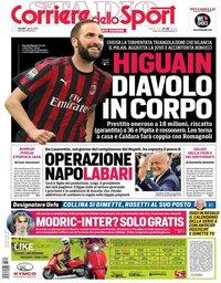 capa Corriere dello Sport de 2 agosto 2018