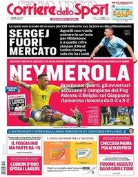 capa Corriere dello Sport de 3 julho 2018
