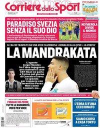 capa Corriere dello Sport de 4 julho 2018