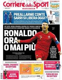 capa Corriere dello Sport de 5 julho 2018