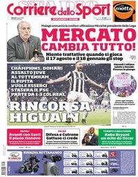 capa Corriere dello Sport de 6 março 2018