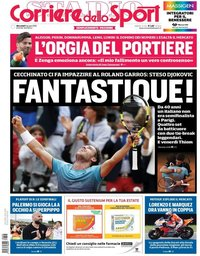 capa Corriere dello Sport de 6 junho 2018
