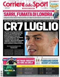 capa Corriere dello Sport de 6 julho 2018