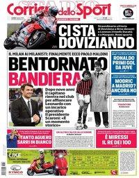 capa Corriere dello Sport de 6 agosto 2018