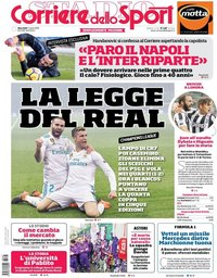 capa Corriere dello Sport de 7 março 2018