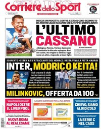 capa Corriere dello Sport de 7 agosto 2018