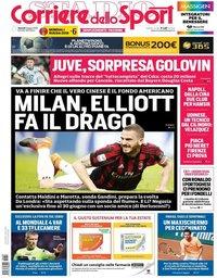 capa Corriere dello Sport de 8 junho 2018
