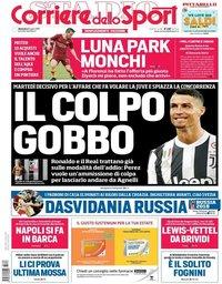 capa Corriere dello Sport de 8 julho 2018