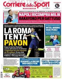 capa Corriere dello Sport de 8 agosto 2018
