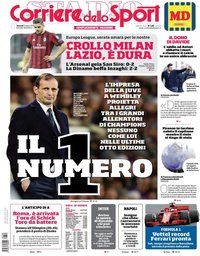 capa Corriere dello Sport de 9 março 2018
