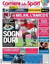 capa Corriere dello Sport de 9 junho 2018