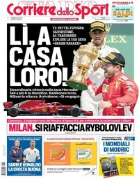 capa Corriere dello Sport de 9 julho 2018