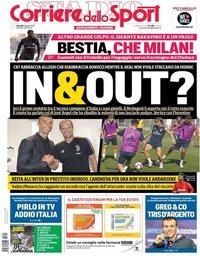 capa Corriere dello Sport de 9 agosto 2018