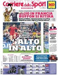 capa Corriere dello Sport de 10 março 2018