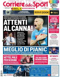 capa Corriere dello Sport de 10 junho 2018