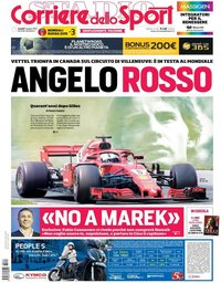 capa Corriere dello Sport de 11 junho 2018