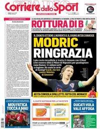 capa Corriere dello Sport de 11 agosto 2018