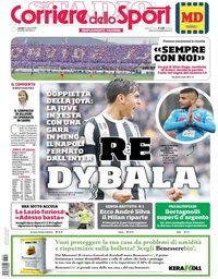 capa Corriere dello Sport de 12 março 2018