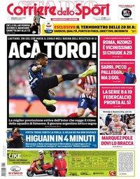 capa Corriere dello Sport de 12 agosto 2018