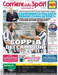 capa Corriere dello Sport de 13 março 2018