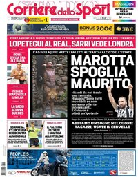 capa Corriere dello Sport de 13 junho 2018