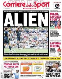 capa Corriere dello Sport de 13 agosto 2018