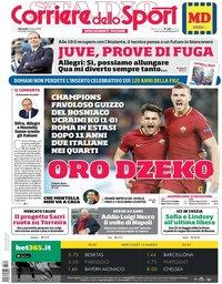 capa Corriere dello Sport de 14 março 2018