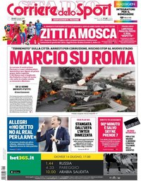 capa Corriere dello Sport de 14 junho 2018
