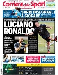 capa Corriere dello Sport de 14 julho 2018
