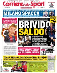 capa Corriere dello Sport de 14 agosto 2018