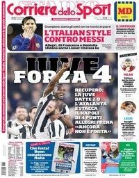 capa Corriere dello Sport de 15 março 2018