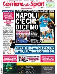 capa Corriere dello Sport de 15 julho 2018