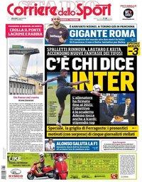 capa Corriere dello Sport de 15 agosto 2018