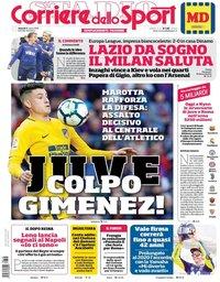 capa Corriere dello Sport de 16 março 2018