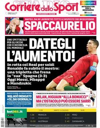 capa Corriere dello Sport de 16 junho 2018