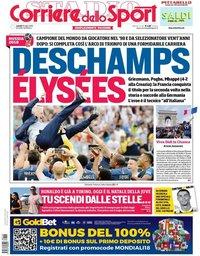 capa Corriere dello Sport de 16 julho 2018