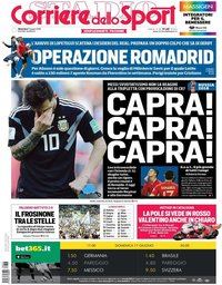 capa Corriere dello Sport de 17 junho 2018