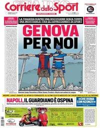capa Corriere dello Sport de 17 agosto 2018