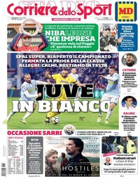 capa Corriere dello Sport de 18 março 2018