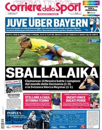 capa Corriere dello Sport de 18 junho 2018