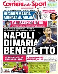 capa Corriere dello Sport de 18 julho 2018