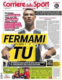 capa Corriere dello Sport de 18 agosto 2018