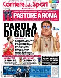 capa Corriere dello Sport de 19 junho 2018