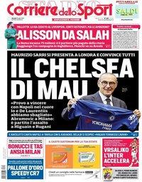 capa Corriere dello Sport de 19 julho 2018
