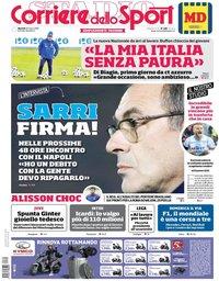 capa Corriere dello Sport de 20 março 2018