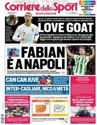 capa Corriere dello Sport de 21 junho 2018