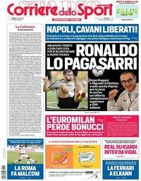 capa Corriere dello Sport de 21 julho 2018