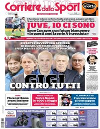 capa Corriere dello Sport de 22 março 2018